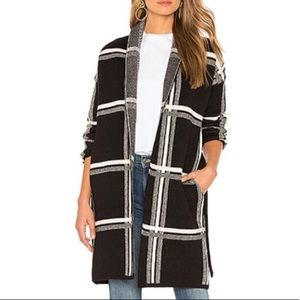 Lovers + friends black plaid jacket